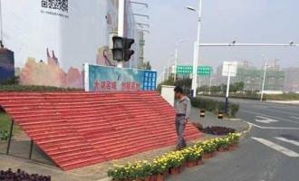 合肥市:国际马拉松大赛沿线路口 铺设花卉隔夜千盆被盗